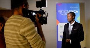 Éloi Hermann Monkam lors du concours Start-up of the year Africa 2018. © D.R.