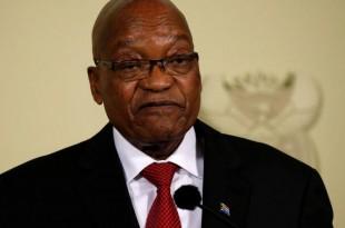 Le Président de l'Afrique du Sud Jacob Zuma annonce sa démission aux Union Buildings à Pretoria, en Afrique du Sud, le 14 février 2018. © REUTERS / Siphiwe Sibeko