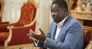 Faure Gnassingbé, au palais présidentiel à Lomé, en décembre 2017. © Vincent Fournier/Jeune Afrique