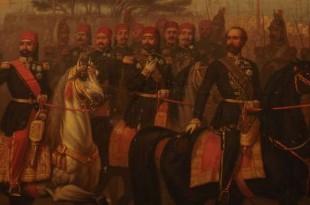 Rencontre du bey de Tunis, Muhammad Sādiq Bāšā-Bey, et Napoléon III à Alger, le 20 septembre 1860. Crédits : A. de Belle, musée de Ksar Saïd, Author provided