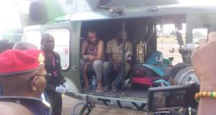 Les otages libérés dans hélicoptère de l'armée camerounaise