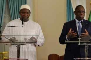 Les président Gambien et Sénégalais