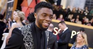 """Chadwick Aaron Boseman, acteur principal de """" Black Panther"""" aux Oscars le 05 mars 2018"""