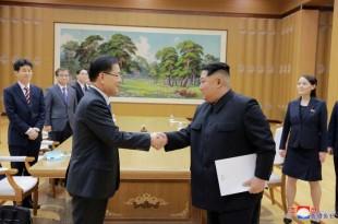 © KCNA / REUTERS La Corée du Nord et la Corée du Sud se sont entendues sur la tenue d'un sommet, fin avril.