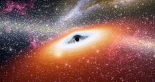 © NASA / JPL-Caltech / R. Hurt (SSC) Illustration d'artiste d'un trou noir supermassif au cœur d'une jeune galaxie.
