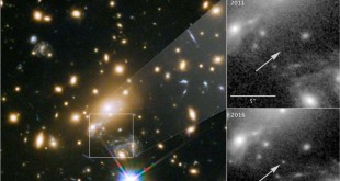 L'image du télescope spatial Hubble de la NASA, Icarus, l'étoile la plus éloignée jamais vue, est montrée dans cette image publiée le 2 avril 2018.