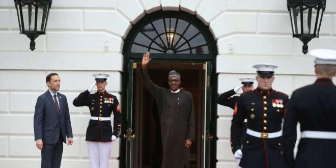 Le président nigérian Muhammadu Buhari, lors de sa dernière visite, à la Maison Blanche à Washington, le jeudi 31 mars 2016.