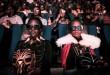 © YASUYOSHI CHIBA / AFP Projection en 3D de « Black Panther » dans un cinéma de Nairobi, le 14 février 2018.