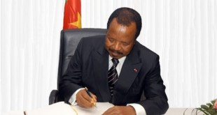 Le chef de l'Etat camerounais Paul Biya. ©Droits réservés
