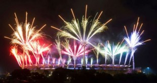 Le stade de Gold Coast lors de la cérémonie d'ouverture du 21ème Jeux du Commonwealth © Micah Crook/PPAUK/Shutt/SIPA