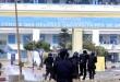Des heurts entre la police et les étudiants de l'université Cheikh Anta Diop de Dakar le 16 mai 2018, le lendemain de la mort de Fallou Sène, étudiant de l'université de Saint-Louis, tué par les forces de l'ordre lors d'une manifestation. . © SEYLLOU / AFP