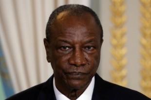 Le président guinéen Alpha Condé, à Paris, le 22 novembre 2017. © PHILIPPE WOJAZER / POOL / AFP