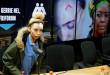 La mannequin Gabriella Engels lors d'une conférence de presse où elle a donné les détails de son altercation avec Grace Mugabe. © REUTERS/Siphiwe Sibeko