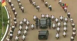 Cortège présidentiel au boulevard u 20 mai au moment où la crise anglophone bat son plein
