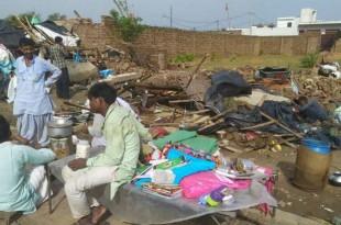 © AFP Des habitants dévastées à Bharatpur, dans l'Etat du Rajasthan, le 3 mai 2018.