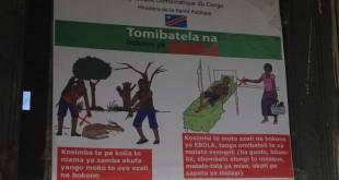 Affiche de sensibilisation au virus Ebola. © RFI/Léa-Lisa Westerhoff