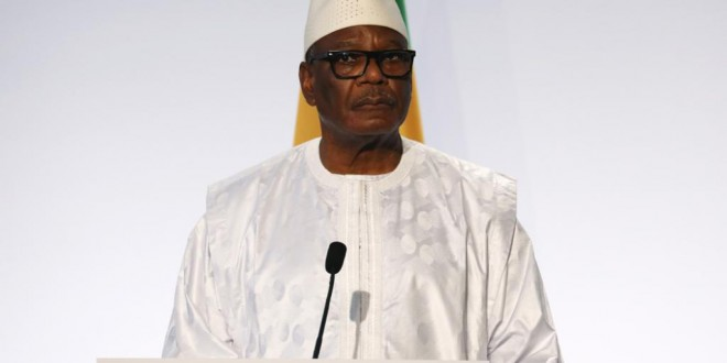 Le président malien Ibrahim Boubacar Keita, le 13 décembre 2017. © LUDOVIC MARIN / AFP