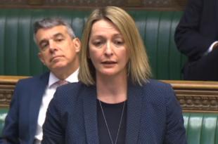 La député britannique Jessica Morden ce 15 mai, lors des questions orales au gouvernement (c) Droits réservés