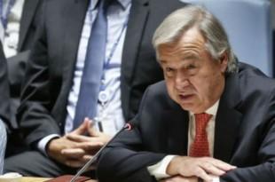 Le secrétaire général des Nations unies Antonio Guterres à New York le 28 septembre 2017. © Bebeto Matthews/AP/SIPA