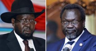Salva Kiir (à gauche) et Riek Machar (à droite) (photo montage). © dr