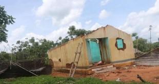 Un village abandonné dans la région del'Adamaoua, dans le nord du Cameroun, en juin 2018. Crédits : Josiane Kouagheu