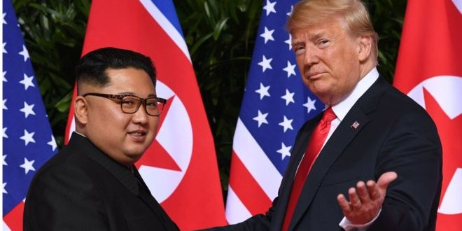 SAUL LOEB Image caption Rencontre historique entre Donald Trump - Kim Jong-Un