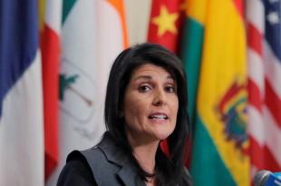 Nikki Haley, l'ambassadrice américaine à l'ONU, ici en janvier 2018, au siège des Nations unies. REUTERS/Lucas Jackson