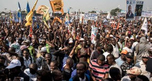 Les partisans de Moise Katumbi, chef de la plate-forme politique Ensemble, lors un rassemblement de tous les partis d'opposition de la coalition à Kinshasa, le 9 juin 2018.