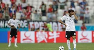 Mohamed Salah après le second but adverse, lundi 25 juin, lors de la défaite de l'Egypte face à l'Arabie saoudite (1-2). Andrew Medichini / AP