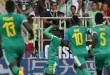 Les Sénégalais célèbrent le but de Mbaye Niang, le 19 juin 2018. © Darko Vojinovic/AP/SIPA