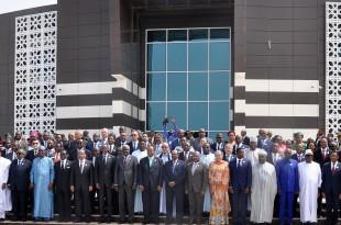 Les chefs d'Etat africains réunis pour la 31e session ordinaire de l'Assemblée de l'Union africaine, le 1er juillet 2018 à Nouakchott, en Mauritanie. © Ahmed OULD MOHAMED OULD ELHADJ / AFP