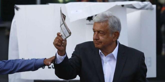 Andres Manuel Lopez Obrador, vainqueur de la présidentielle mexicaine,1er Juillet 2018.